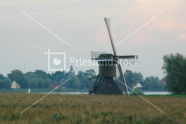 Doris Mooltsje met op achtergrond Oudega SWF - FrieslandStock