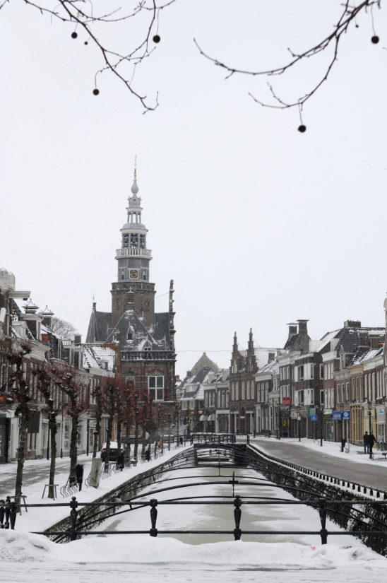 Bolsward centrum in winter - FrieslandStock