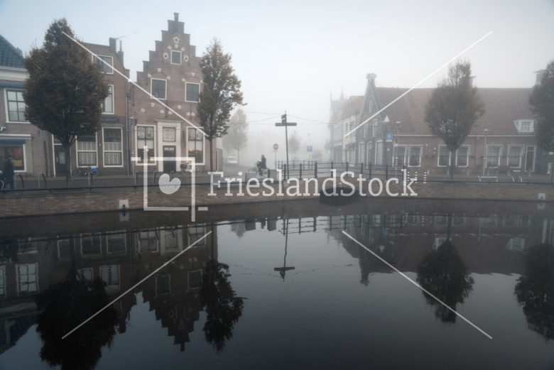 Centrum Sneek in mist - FrieslandStock