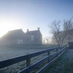Dorpsgezicht Schettens in winter - FrieslandStock