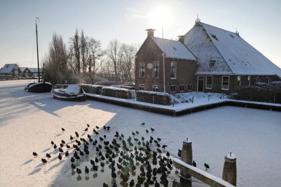 Winters centrum Gaastmeer - FrieslandStock