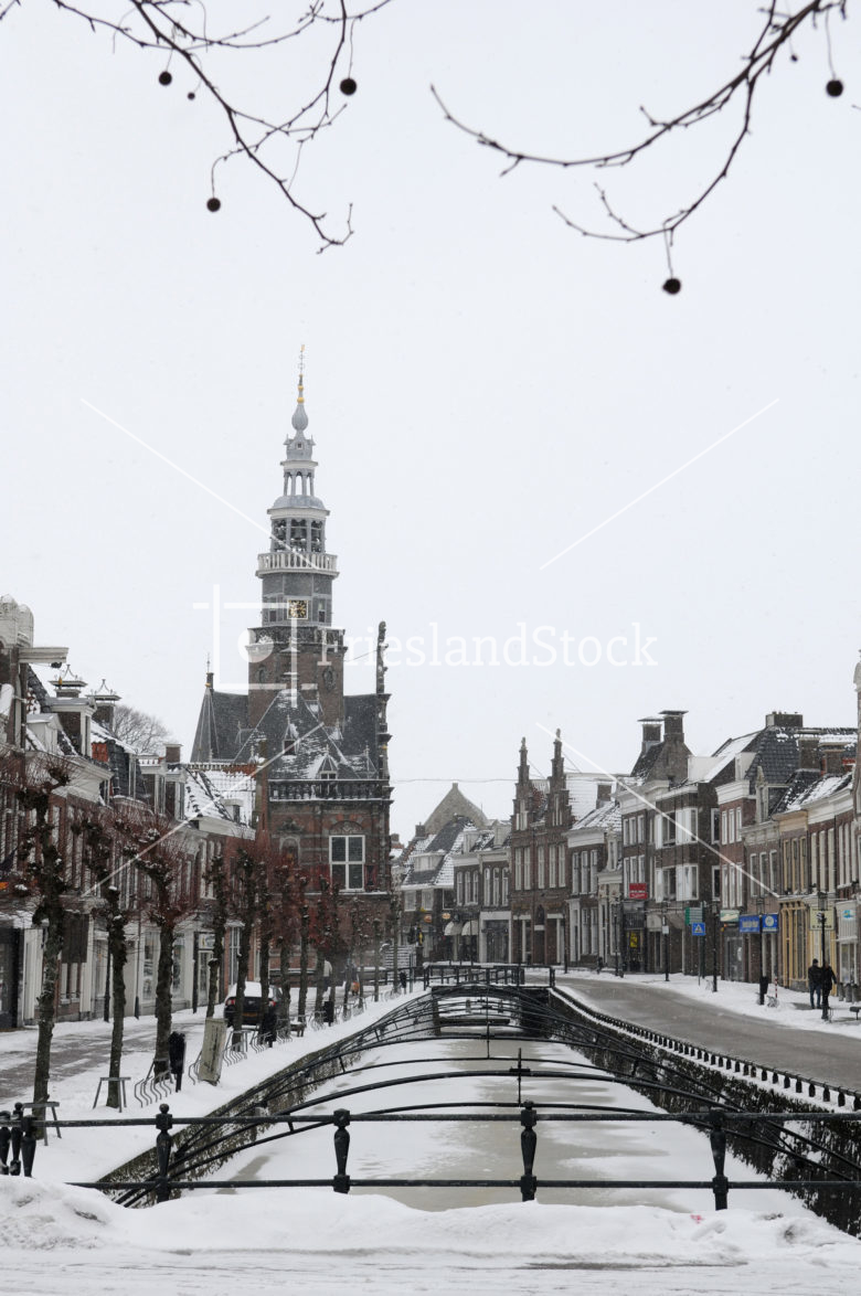 Bolsward centrum in winter - FrieslandStock