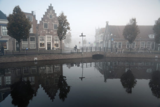 Centrum Sneek in mist - FrieslandStock