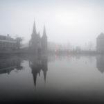 De Kolk van Sneek in mist - FrieselandStock